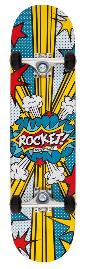 "Rocket Logo Series Kapow 7.5"" skateboard"