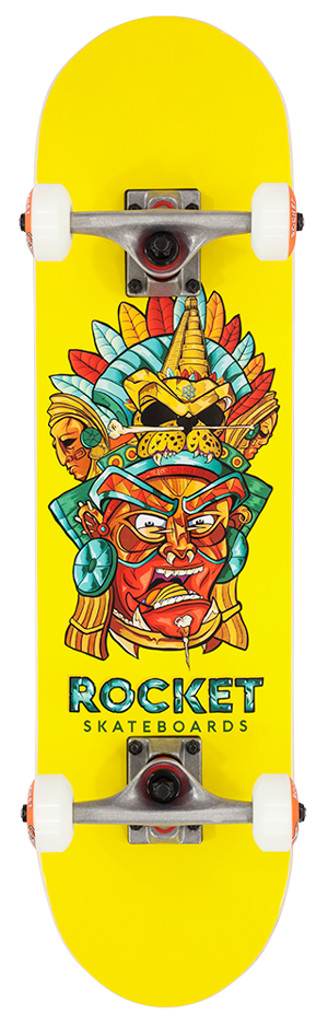 "Rocket Mini Mask Series Aztec 7.375"" skateboard"