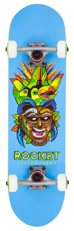 "Rocket Mini Mask Series Tribal 7.5"" skateboard"