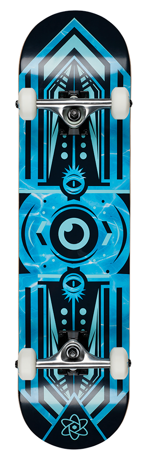 "Rocket Surveillance Series Aqua 7.75"" skateboard"