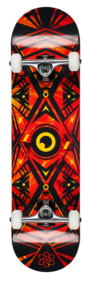 "Rocket Surveillance Series Flames 8"" skateboard"