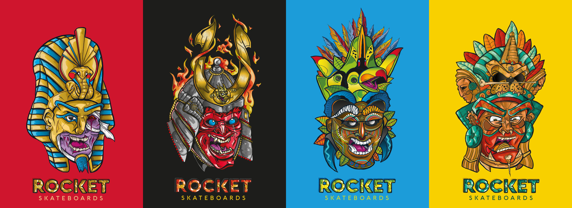 Rocket complete skateboard - Mini Mask Series